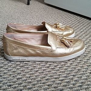 Super comfy gold Michael Kors shoes